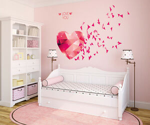 5700033 | Wall Stickers Love You Hearts Blowing Bedroom Design