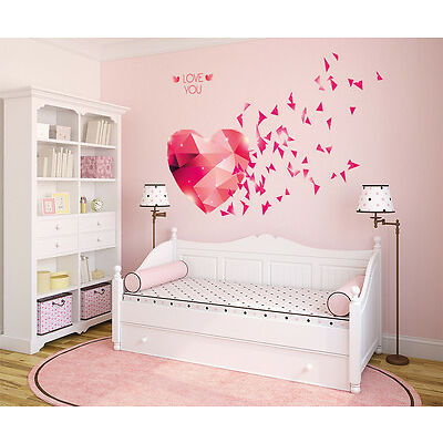 5700033  Wall Stickers Love You Hearts Blowing Bedroom Design