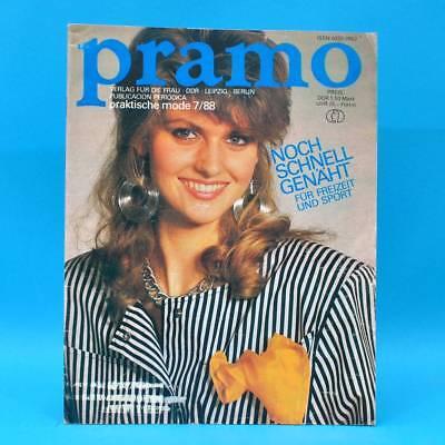 UnermüDlich Ddr Pramo 7/1988 Praktische Mode Schnittmuster S Schulgarderobe Umstandsmode Herausragende Eigenschaften
