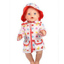 Handmade Raincoat clothes set for 18inch American girl doll party b849