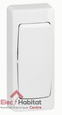 Interrupteur va et vient appareillage saillie complet blanc Legrand 86001