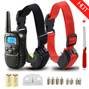 Waterproof-1000-Yard-2-Dog-Shock-Training-Collar-Pet-Trainer-with-Remote-4-Mode