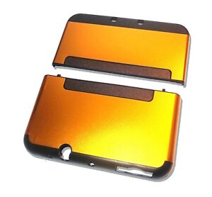 Nintendo-NEW-3DS-XL-3DSXL-Orange-Gold-Aluminium-Metal-Case-Cover-Shell-Housing