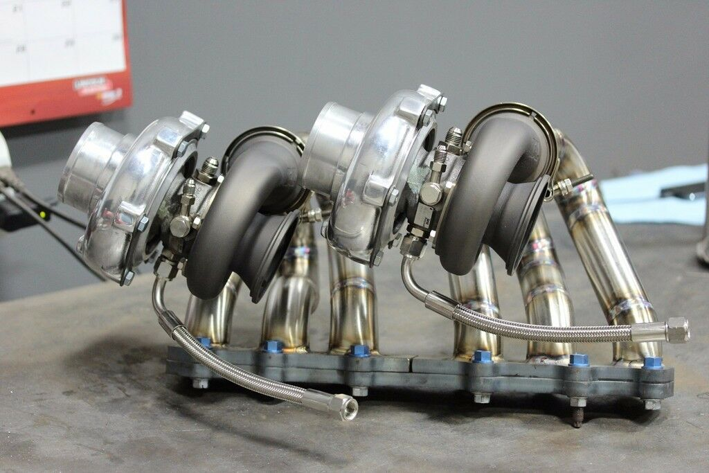 Docrace 2jzgte Twin Turbo Manifold Tial V Band 44mm Mvr 93