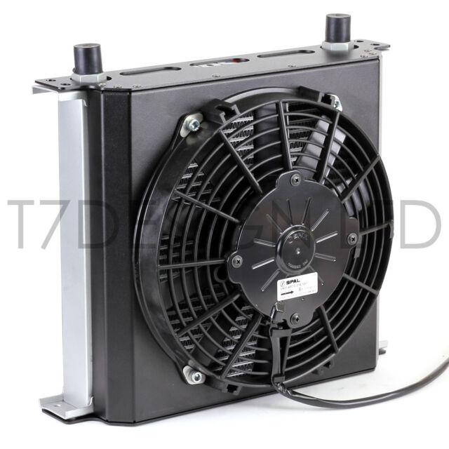 115mm 16 Row Oil Cooler Fan Shroud Kit Pull Fan Engine Transmission Gearbox