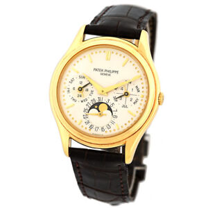 PATEK PHILIPPE 18K Yellow Gold Perpetual Calendar 3940 J Warranty Box 3940-J