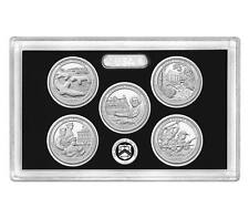 2017 US Mint Silver Proof Set National Park Quarters 5  NO COA & Box Presale