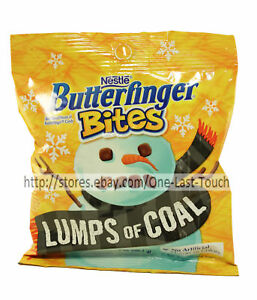 BUTTERFINGER-BITES-3-2-oz-Bag-LUMPS-OF-COAL-Bite-Sized-Candy-HOLIDAY-Exp-4-19