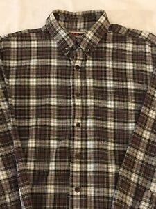 LL Bean Shirt Vintage LL Bean Checkered Shirt Men/'s Size S