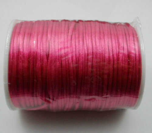 10m Nylon Chinese Knot Satin Macrame Beading Jewelry Rattail Cords 3mm 15Color