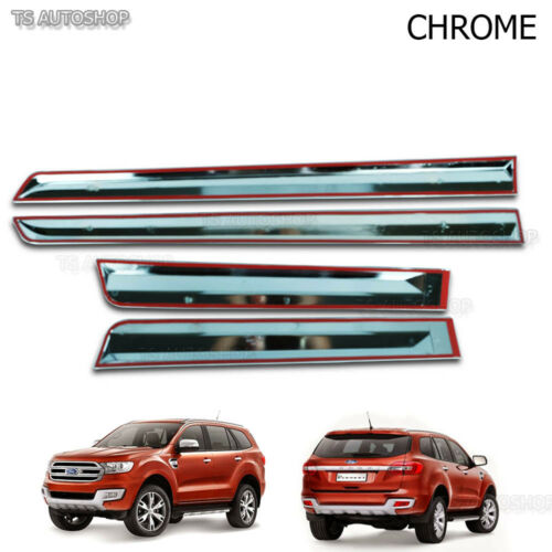 Chrome Line Side Door Cladding Molding For Ford Everest Suv 2.2 3.2 2016 2017