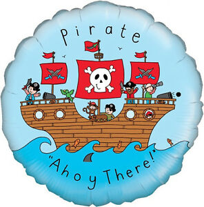 PIRATE-BALLOON-18-034-AHOY-THERE-HAPPY-BIRTHDAY-PIRATE-PARTY-SUPPLIES-BALLOON