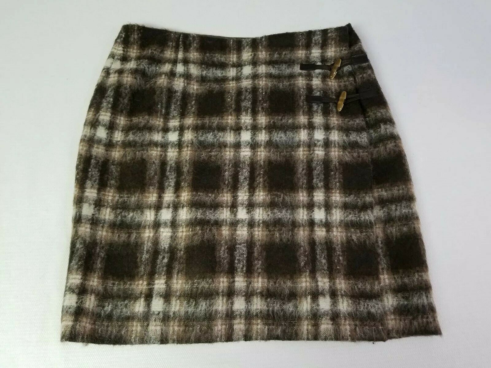 Pendleton USA  Wool Plaid Lined  Skirt Sz 14  30% wool 56% mohair 14% nylon
