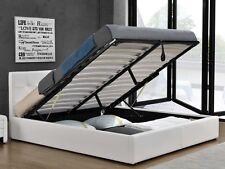 Polsterbett Kunstlederbett Doppelbett Ehebett weiss oder schwarz Bettkasten NEU