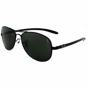 17a5f176fe86b Image is loading Ray-Ban-Sunglasses-8301-002-Black-Green-56mm