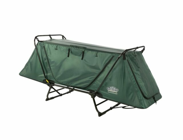 Camping Tent Cot Sleeping Bag Folding Outdoor Bed Army Military Fly Portable New