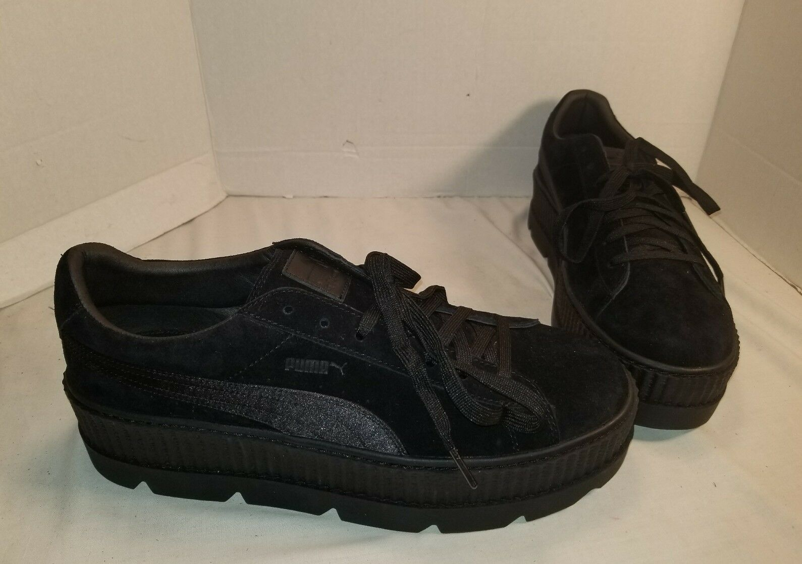 NEW PUMA FENTY BY RIHANNA CLEATED CREEPER Noir SUEDE Homme SNEAKERS US 13
