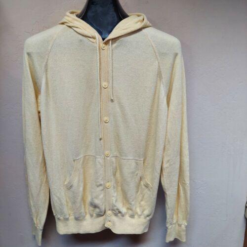 Gran Sasso Womens Hoodie Button Down Sweater Cashm