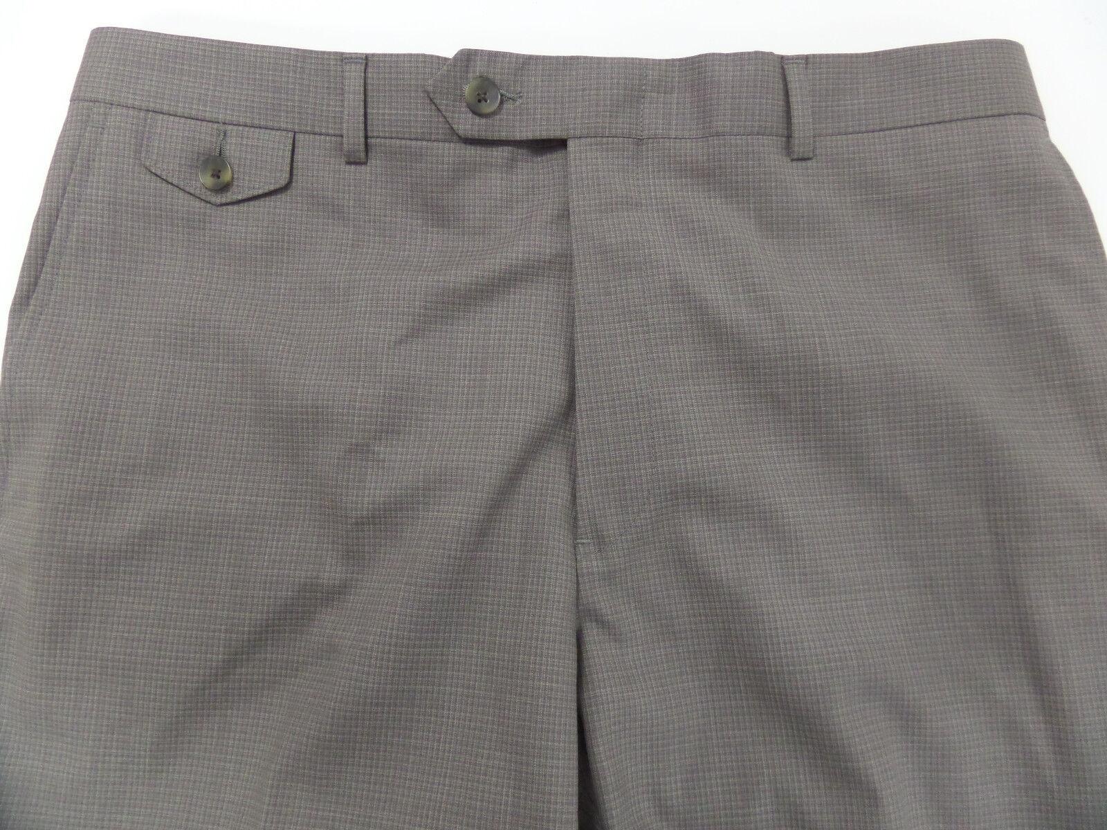 HART SCHAFFNER MARX WOOL DRESS PANTS FLAT MENS 36 Unfinished