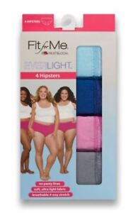 Fruit-of-the-Loom-Fit-For-Me-4-Women-039-s-Everlight-Hipsters-Breathe-Plus-Size-10