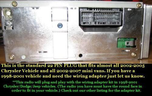 NEW OEM 2002-2006 JEEP GRAND CHEROKEE INFINITY CASSETTE RADIO STEREO CD-CONTROL