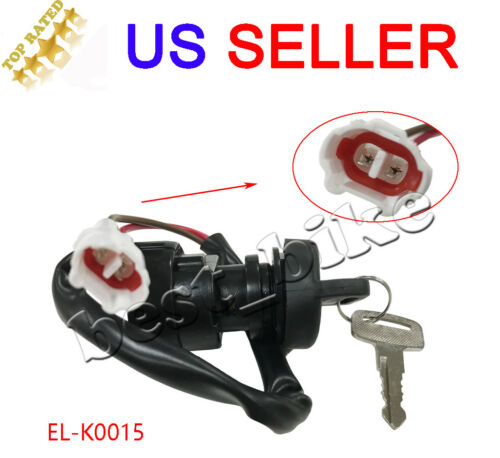 Ignition Key Switch 2 pin for Yamaha YFM350 Grizzly 350 2007 2008 2009 2010-2014