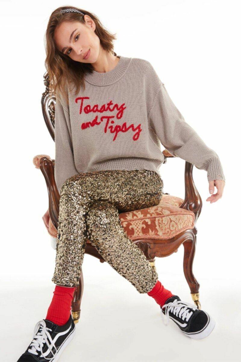 Wildfox Toasty And Tipsy Philo Sweater WGYA605I8