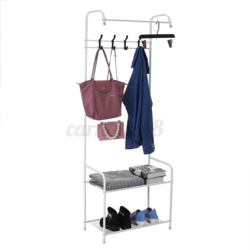 3 in 1 Garment Clothes Rack Storage Closet Hanger Floor Stand Organizer Storage
