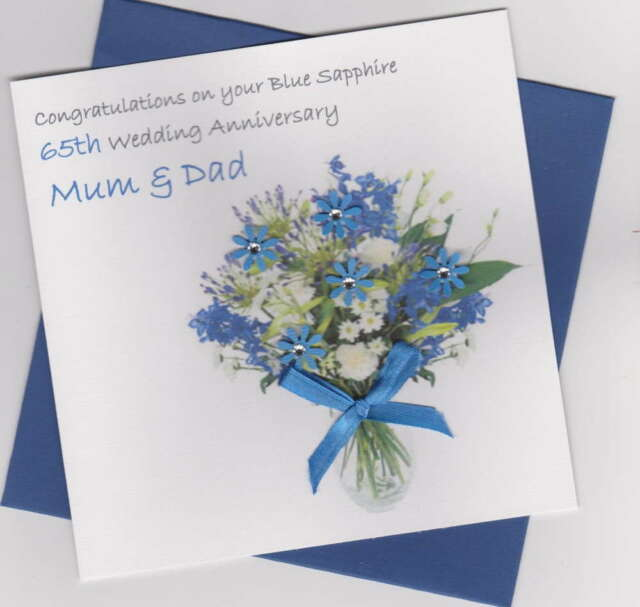Personalised 65th Wedding Anniversary Gift Plate Flower Rd