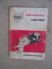 1965 Volvo Penta Aquamatic 110 200 Outboard Motor Owner Instruction Manual    S