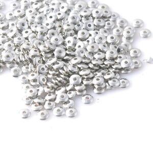 30-Perles-intercalaires-argente-acrylique-6mm-Perle-rondelle-6mm-x-2mm