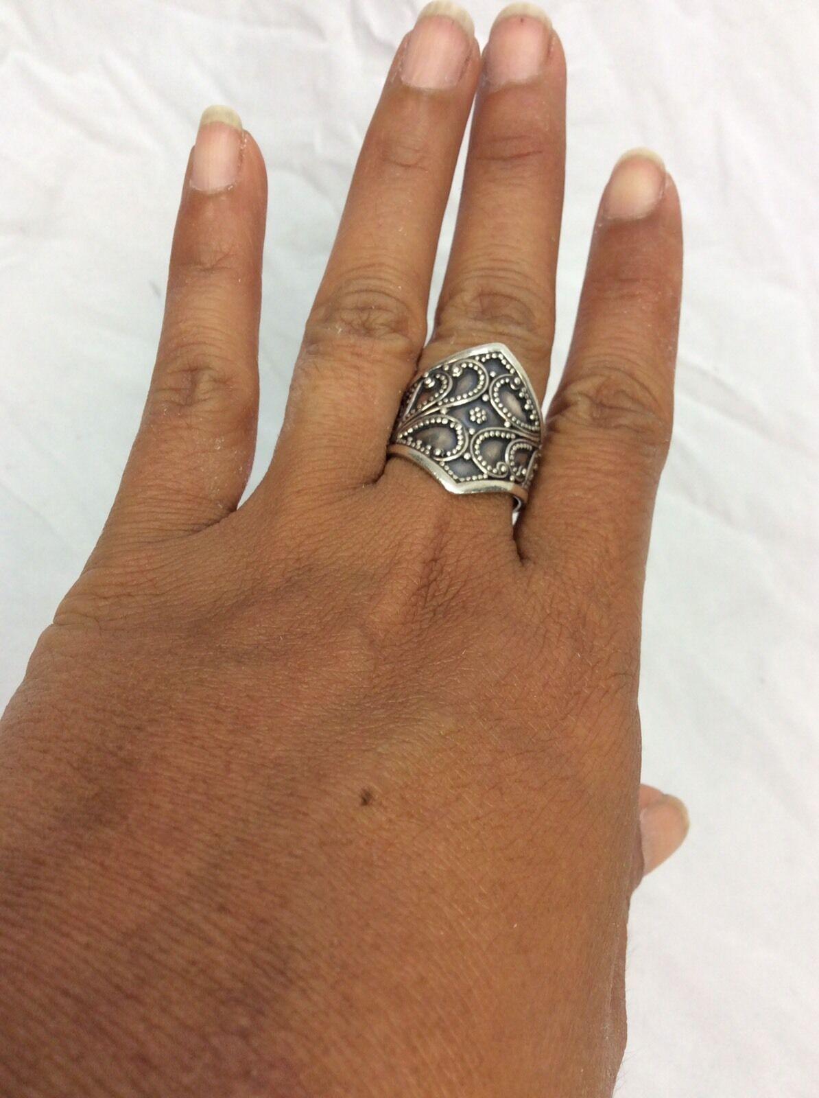 Beautiful Bali Indonesia sterling 925 Ornate ring size 9