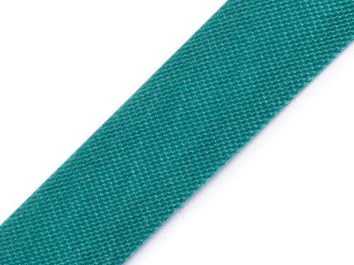 125m Satinschrägband 15mm breit schon gefalzt über 25 Farben 10ct//m