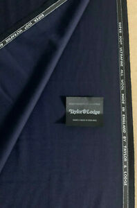 3-5-Metres-Navy-Super-100s-Ultrafine-Pure-Wool-Suit-Fabric-290g