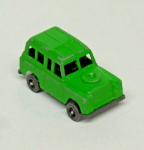 """Vintage Tootsie Toy Land Rover Green Diecast Made in U.S.A. 3"""" Long"""