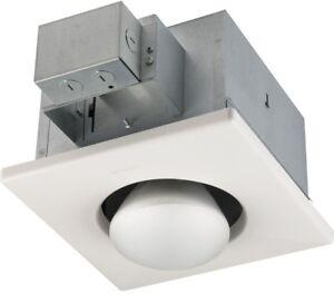 Ceiling Mounting Heater 250 Watt Infrared 1 Bulb Bathroom Indoor