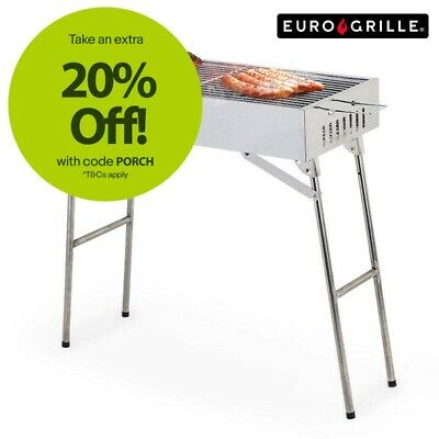 EuroGrille Portable Charcoal BBQ