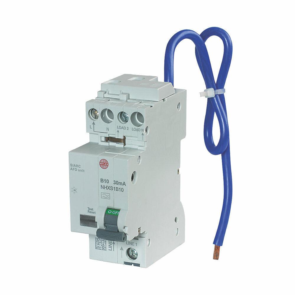 Wylex 10 10 10 Amp 30mA DP TIPO B AFDD RCBO Arc Fault rilevamento dispositivo NHXSB10 cancellazione Sandbox 537f3f