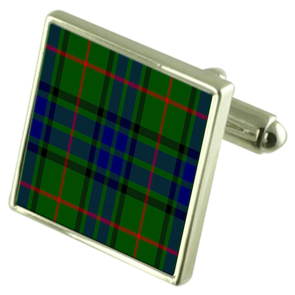 Tartan Clan Clan Clan Lauder argentoo Sterling Gemelli incisi BOX 6444ea