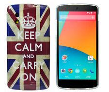 TPU Case f Google Nexus 5 Schutzhülle Cover Tasche Etui keep calm and carry on
