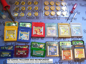 Details about GAME SAVE BATTERY REPLACEMENT & POKEMON EXTRAS REPAIR SERVICE  Gameboy Color gba
