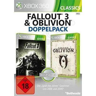 Microsoft XBOX 360 Spiel * Fallout 3 + The Elder Scrolls IV 4 Oblivion **NEU*NEW