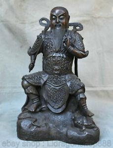 18-034-Feng-Shui-cuivre-rouge-chinois-rycunhua-Statue-du-Patriarche-de-Xuanwu-Dadi