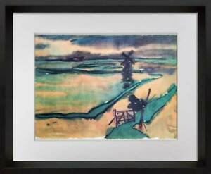 Emil-Nolde-Lithograph-Limited-Edition-no-167-Sign-Archival-FRAME-Included