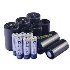 8x AA 3000mAh BTY Ni-MH batería recargable + 4C/4D Batería adaptador convertidor