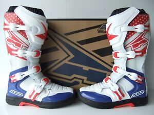 Details about AXO RED BLUE Moulded Sole Motocross Enduro Boots 8 9 10 11 MX CR YZ RM YZF CRF