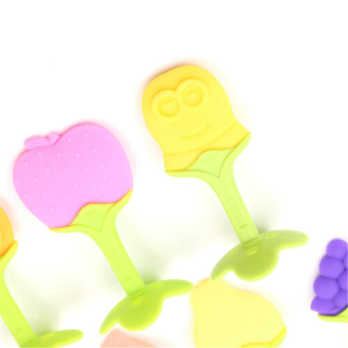 Fruits Baby Chew Teether Toys Silicone Teething Pendant Necklace BPA Free UK