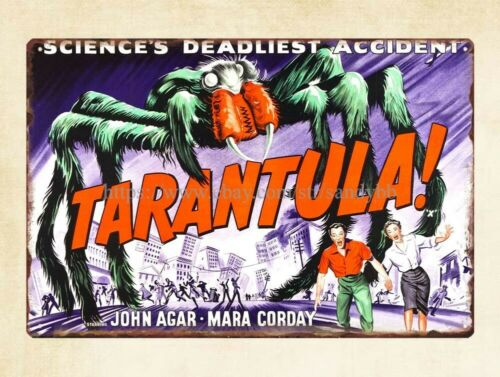wall art Tarantula 1955 horror sci fi movie poster metal tin sign