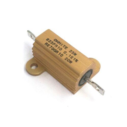 NEW Ohmite RE70GR10 0.10 Ohm 1/% 20 Watt Metal Power Resistor 20W MIL-PRF-18546