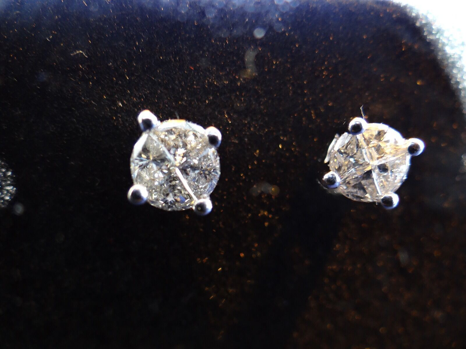 Diamond Stud Earrings - image 1